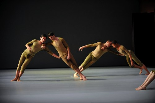 Dancers (l to r) Javier Baca, Andrew Cowan and Evan Copeland in Shen Wei's 'Re - (III)' at Lincoln Center Festival (Photo also courtesy of Lincoln Center)