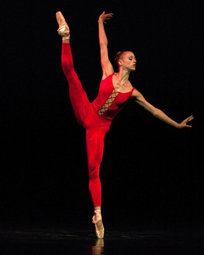 Lesley Rausch of Pacific Northwest Ballet in 'Red Angels'