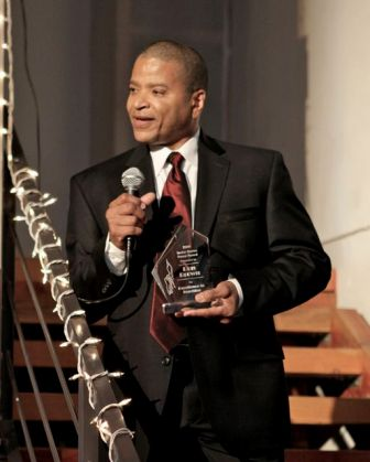 Ron Brown accepts the award for Excellence in Teaching
